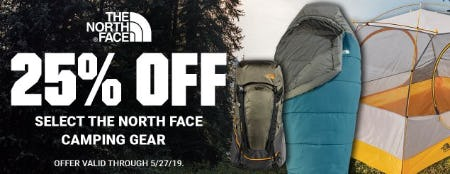 25% Off Select The North Face Camping Gear from Dick's Sporting Goods