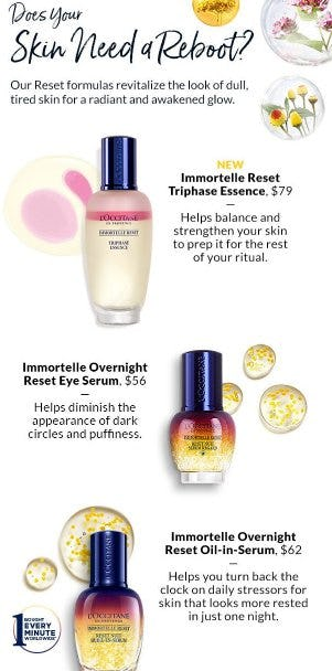 Reset Your Skin In 3 Easy Steps from L'Occitane