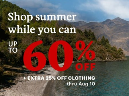 Up to 60% Off plus an Extra 25% Off Clothing from REI