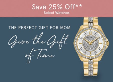 Save 25% Off Select Watches