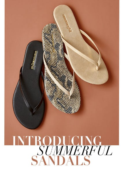 Introducing Summerful Sandals from Everything But Water