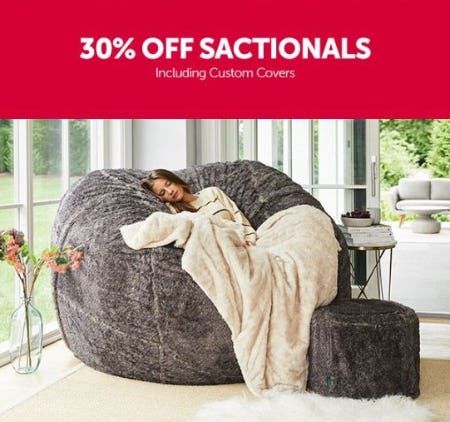30% Off Sactionals Including Custom Covers from Lovesac Alternative Furniture