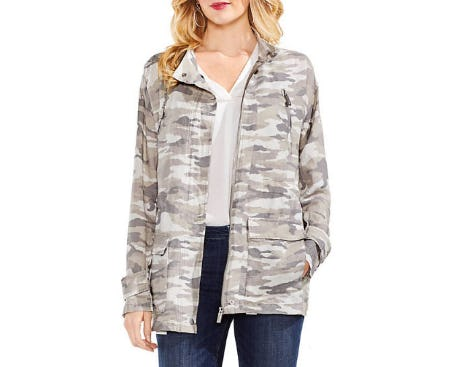 Vince Camuto Avenue Cameo Belted Military Jacket from Belk