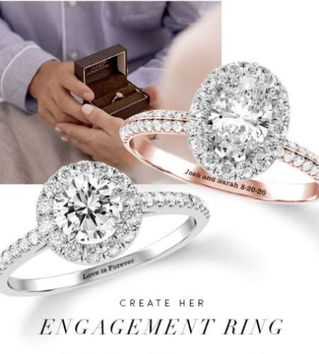 Personalized Engagement Ring from Jared Galleria of Jewelry