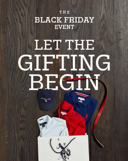Black Friday Weekend Sale! from U.S. Polo Assn.