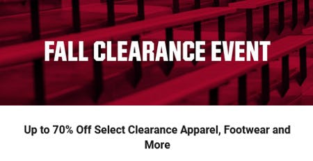 Up to 75% Off Select Clearance Apparel, Footwear and More from Dick's Sporting Goods