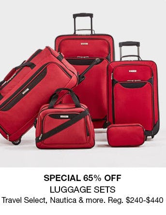 65% Off Luggage Sets from macy's