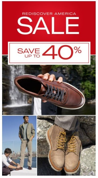 Rediscover America Sale: Up to 40% Off from Allen Edmonds