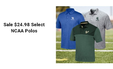 $24.98 Select NCAA Polos from Dick's Sporting Goods