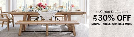 Up to 30% Off The Spring Dining Event from Pottery Barn