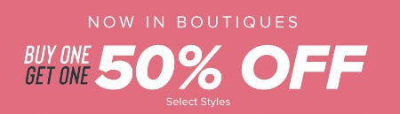 Buy One, Get One 50% Off from francesca's