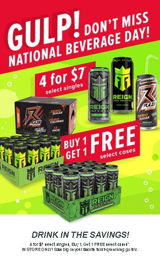 4 for $7 Select Singles or Buy 1, Get 1 Free Select Cases from GNC