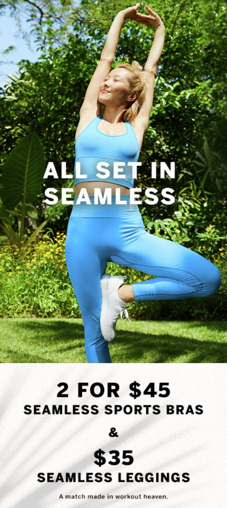 2 for $45 Seamless Sports Bras & $35 Seamless Leggings from Victoria's Secret