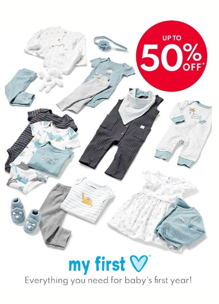 Up to 50% Off My First Love from Carter's