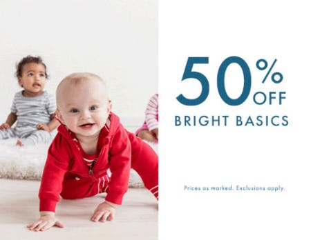50% Off Bright Basics from Hanna Andersson