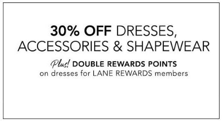 30% Off Dresses, Accessories & Shapewear from Lane Bryant