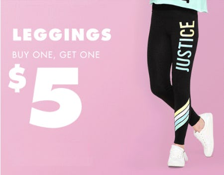BOGO $5 Leggings from Justice