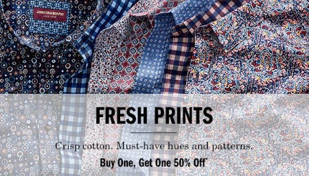 BOGO 50% Off Fresh Prints from Johnston & Murphy