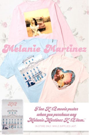 Melanie Martinez K-12 Movie Poster Gift with Purchase from Hot Topic