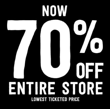 70% Off Entire Store from Crazy 8