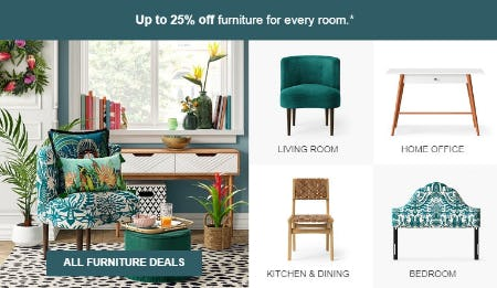 Up to 25% Off All Furniture Deals