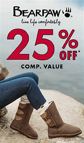 25% Off Comp. Value on Bearpaw from DSW Shoes