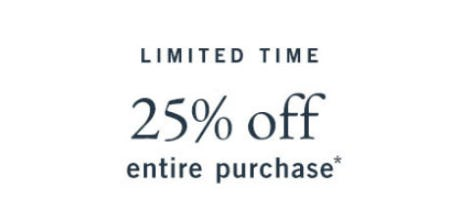 25% Off Entire Purchase from Abercrombie & Fitch