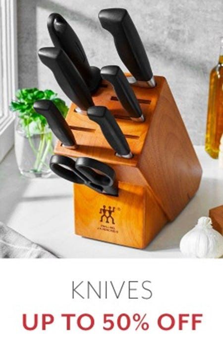 Knives Up to 50% Off