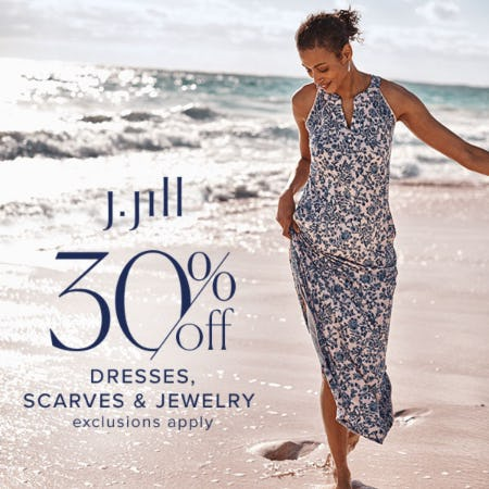 30% off Dresses, Scarves & Jewelry