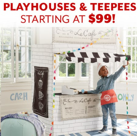 Playhouses & Teepees Starting at $99