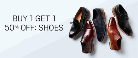 BOGO 50% Off Shoes from Men's Wearhouse