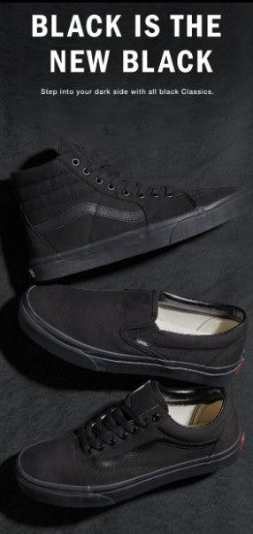 Black is the New Black from Vans