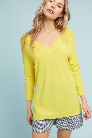 V-Neck Pullover from Anthropologie