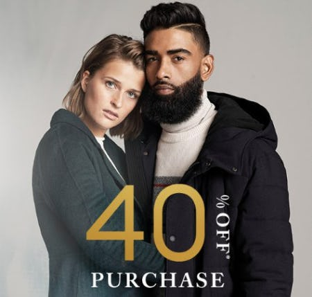 40% Off Purchase from Banana Republic