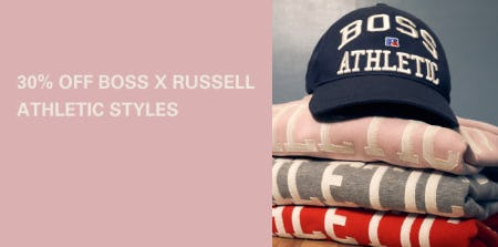 30% Off BOSS X Russell Athletic Styles from Boss