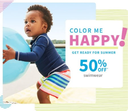 50% Off Swimwear from Carter's