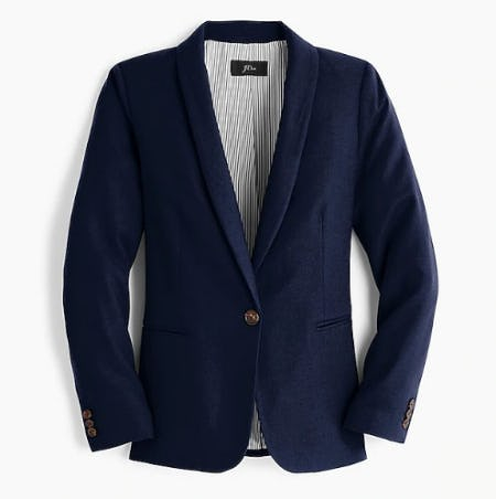 Parke Blazer in Wool Flannel from J.Crew