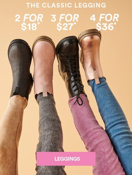 4 For $36 Leggings
