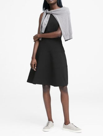 Stretch Racerback Fit And Flare Dress At Banana Republic Ridgedale