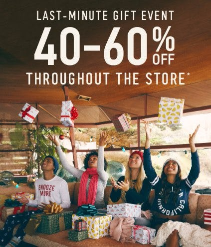 40-60% Off Throughout The Store