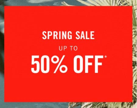 Spring Sale up to 50% Off from Abercrombie & Fitch
