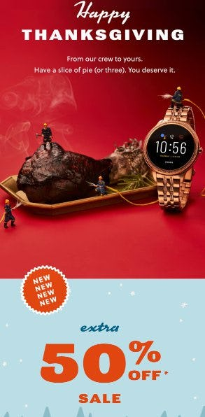 Extra 50% Off Sale from Fossil
