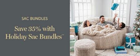 Save 35% with Holiday Sac Bundles from Lovesac