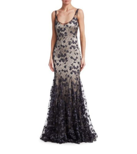 Badgley Mischka Slip Lace Gown from Saks Fifth Avenue