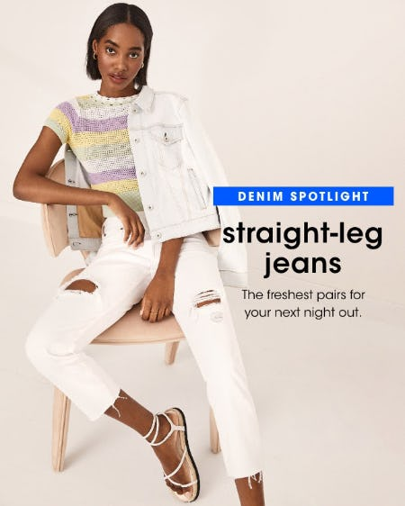New Straight-Leg Jeans from Bloomingdale's