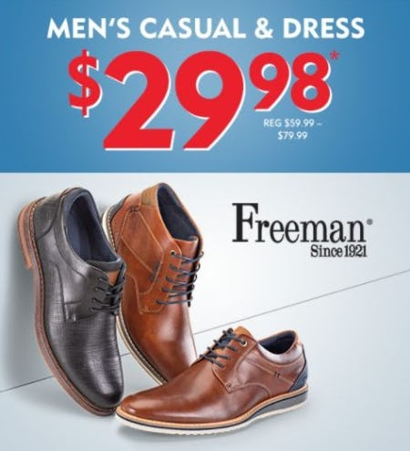 $29.98 Men's Casual & Dress Shoes from Shoe Carnival