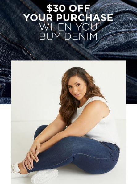 a779efba514 Sale at Lane Bryant.  30 Off Your Purchase When You Buy Denim