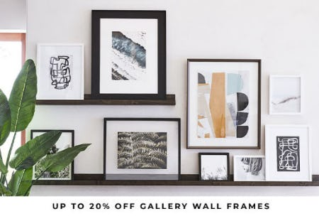 Up to 20% Off Gallery Wall Frames from Pottery Barn