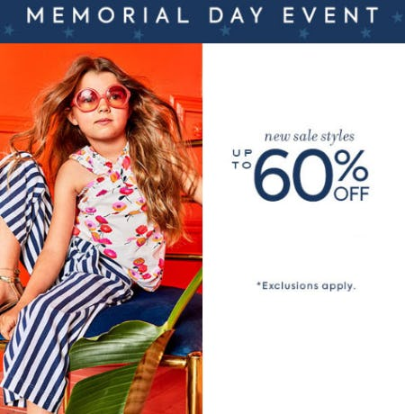 Up to 60% Off Memorial Day Event