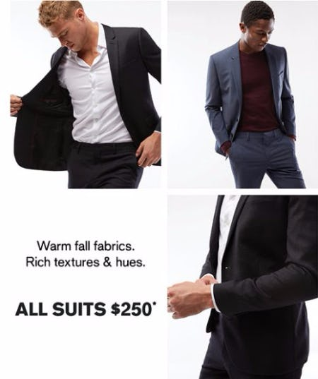 All Suits $250